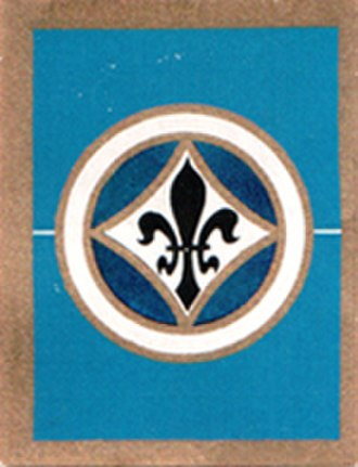 SV Darmstadt 98 - Cigarette card with the crest of the club from 1930