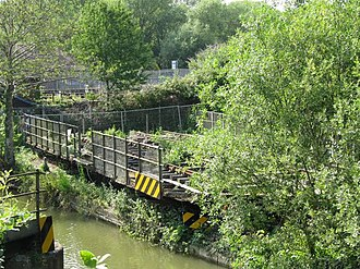 Sheepwash Channel - Image: Swing bridge over the canal geograph.org.uk 1405691
