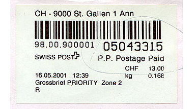 Switzerland stamp type PO9aa.jpg