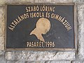 Szabo Lorinc School, plaque, 2017 Pasaret.jpg