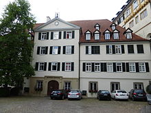 Hölderlin attended the Tübinger Stift (pictured) from 1788 to 1793. (Source: Wikimedia)