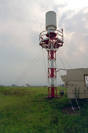 Tactical air navigation system - A US Air Force TACAN antenna.