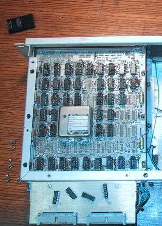 Transistor–transistor logic - A real-time clock built of TTL chips around 1979.