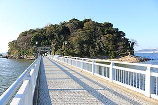 Gamagōri City in Chūbu, Japan
