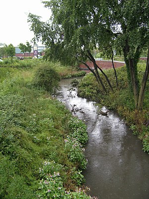 River Tame, West Midlands - Image: Tame at Bentley Creen 1