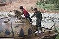 Tanks of the Iraqi Army that were captured by Kurdish Peshmerga in Kore village in Shaqlawa District 05.jpg