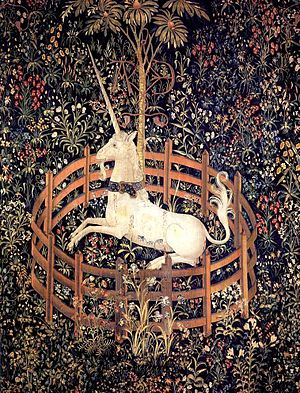 Tapestry by unknown weaver - The Unicorn in Captivity - WGA24176.jpg