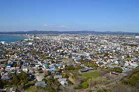 Tateyama City viewed from Tateyama Castle.JPG