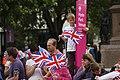 TeamGB fans watch the men's triathlon at Hyde Park Corner (7741287476).jpg