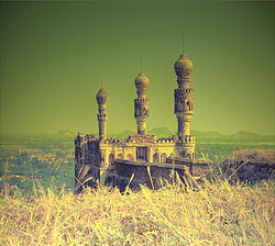 Teen minar at Elgandal fort