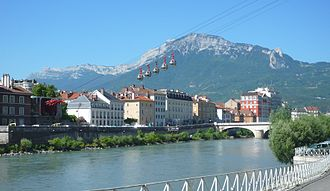 Grenoble-Bastille cable car - Lower station today.