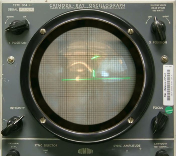 Tennis For Two on a DuMont Lab Oscilloscope Type 304-A
