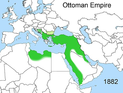 Territorial changes of the Ottoman Empire 1882
