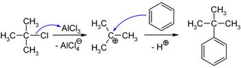 Synthese von tert-Butylbenzol in einer Friedel-Crafts-Alkylierung