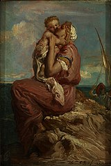 Fisherman's Wife from Mola di Gaeta Embracing her Child