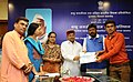 """Thaawar Chand Gehlot distributing the prize to the winner of the """"Babu Jagjivan Ram All India Essay Competition 2016"""", at a function, in New Delhi (2).jpg"""