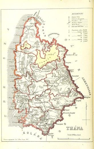 Thane district - Thana district 1896