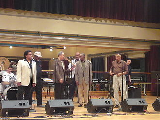 Doo-wop - The Cleftones during their participation in the doo-wop festival celebrated in May 2010 at the Benedum Center.