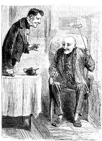 "John Wemmick - Mr. Wemmick and ""The Aged P."", illustration by Sol Eytinge Jr."