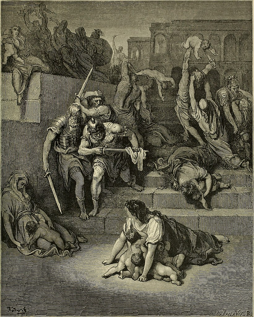 무죄한 아기들의 학살 (귀스타브 도레, Gustave Dore, 1865년)