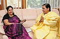 The Chief Minister of Rajasthan, Smt. Vasundhara Raje Scindia calling on the Union Minister for Water Resources, River Development and Ganga Rejuvenation, Sushri Uma Bharti, in New Delhi on December 03, 2014.jpg