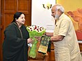The Chief Minister of Tamil Nadu, Ms. J. Jayalalithaa calling on the Prime Minister, Shri Narendra Modi, in New Delhi on June 14, 2016 (2).jpg