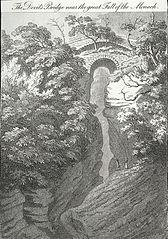 The Devil's Bridge near the great Fall of the Monach