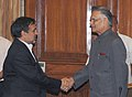 The Director General, Independent Directorate of Local Governance (IDLG) and Minister, Government of Afghanistan, Mr. Jelani Popal calls on the Union Home Minister, Shri Shivraj V. Patil, in New Delhi on July 24, 2008.jpg