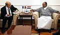 The French Defence Minister, Mr. Jean-Yves Le Drian calling on Defence Minister, Shri A. K. Antony, in New Delhi on February 14, 2013.jpg