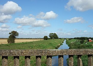 Louth Navigation - The channel near Alvingham is quite straight