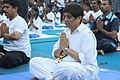 The Lt. Governor of Puducherry, Ms. Kiran Bedi performing Yoga along with other participants, on the occasion of the 2nd International Day of Yoga – 2016, at Beach Road, Puducherry on June 21, 2016.jpg