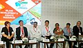 """The Minister of State for Agriculture and Farmers Welfare, Dr. Sanjeev Kumar Balyan participating in Session 5B """"Island Development and Agriculture Resource"""", at the Maritime India Summit, in Mumbai on April 15, 2016.jpg"""