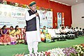 The Minister of State for Finance and Corporate Affairs, Shri Arjun Ram Meghwal addressing the gathering at the inauguration of DigiDhan Mela, in Nizamabad, Telangana.jpg