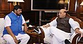 The Minister of State for Social Justice & Empowerment, Shri Ramdas Athawale calling on the Union Home Minister, Shri Rajnath Singh, in New Delhi on December 13, 2017.jpg