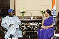 The Minister of Trade and Private Sector Promotion, Niger Mr. Seydou Sadou meeting the Minister of State for Commerce & Industry (Independent Charge), Smt. Nirmala Sitharaman, in New Delhi on March 10, 2017.jpg
