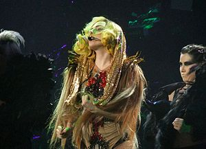 "The Fame Monster - Gaga performing ""Monster"" at The Monster Ball Tour. The song was the first track written for The Fame Monster, which was initially intended to include only three new songs."