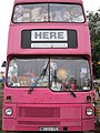 The Pink Bus, by Caroline Fletcher and Victoria Brook, 2011 Glastonbury Festival.jpg