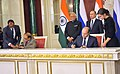 The Prime Minister, Shri Narendra Modi and the President of Russian Federation, Mr. Vladimir Putin witnessing the signing of agreements, at Moscow, in Russia on December 24, 2015 (7).jpg