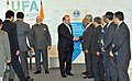 The Prime Minister, Shri Narendra Modi and the Prime Minister of Pakistan, Mr. Nawaz Sharif, during their meeting, on the sidelines of the SCO Summit, in Ufa, Russia on July 10, 2015.jpg