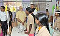 The Prime Minister, Shri Narendra Modi interacting with the students, at Livelihood College, in Dantewada, Chhattisgarh on May 09, 2015. The Chief Minister of Chhattisgarh, Dr. Raman Singh is also seen (2).jpg