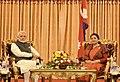 The Prime Minister, Shri Narendra Modi meeting the President of Nepal, Ms. Bidya Devi Bhandari, in Kathmandu, Nepal on May 11, 2018.JPG