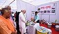 The Prime Minister, Shri Narendra Modi visiting the Kachra Mahotsav, in Varanasi, Uttar Pradesh on March 12, 2018. The Chief Minister of Uttar Pradesh, Yogi Adityanath is also seen.jpg