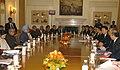 The Prime Minister of Japan, Mr. Yukio Hatoyama and the Prime Minister, Dr. Manmohan Singh at the delegation level talks, in New Delhi on December 29, 2009.jpg
