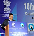 The Secretary, Department of Industrial Policy and Promotion (DIPP), Shri Amitabh Kant addressing at the inauguration of the 10th National Quality Conclave, organised by the Quality Council of India, in New Delhi.jpg
