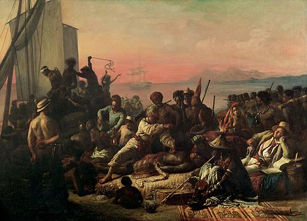 """The Slave Trade"" by Auguste Francois Biard, 1840 The Slave Trade by Auguste Francois Biard.jpg"