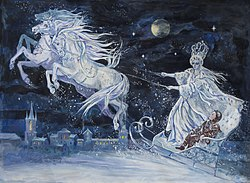 An Illustration Of The Snow Queen Character Elsa Is Based Upon