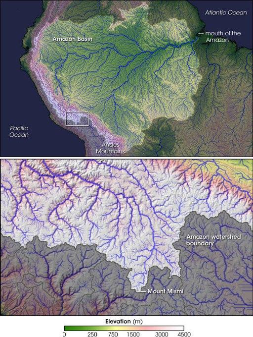 ubicacion geografica de la cuenca del rio amazonas