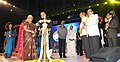 The Union Minister for Finance, Corporate Affairs and Information & Broadcasting, Shri Arun Jaitley lighting the lamp at the inauguration of the 45th International Film Festival of India (IFFI-2014), in Panaji.jpg