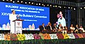 The Vice President, Shri M. Venkaiah Naidu delivering the inaugural address, at the 28th All India Builders' Convention, in Bengaluru.jpg