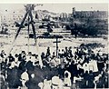 The blessing ceremony of the first stone of the church of the Holy Trinity of Marsa, 20 October 1909.jpg